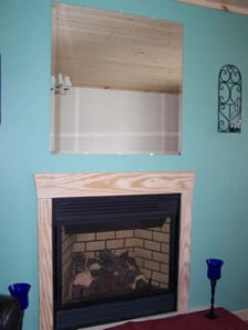 Living room fireplace - you just click!